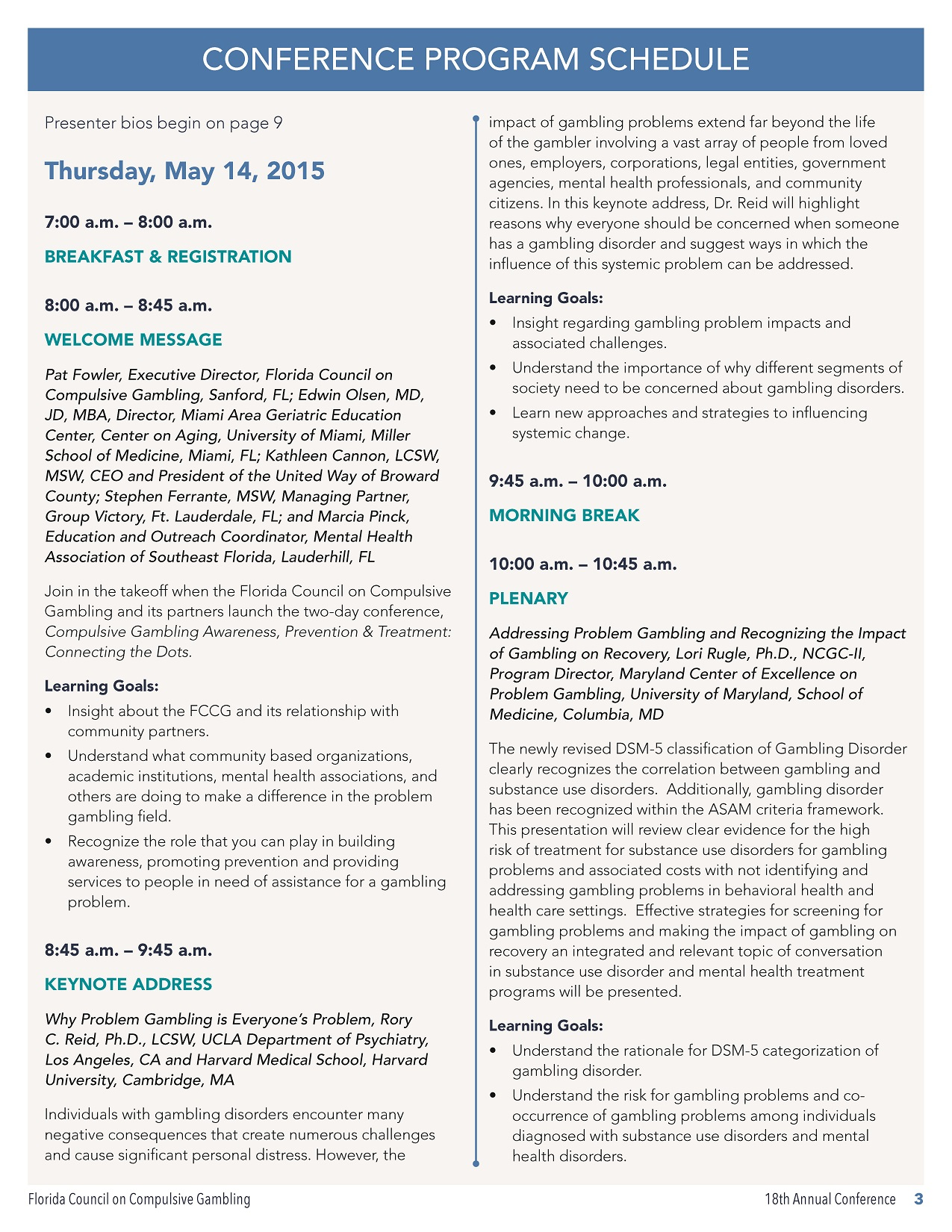 18th Annual Conference Program Schedule_Page_1